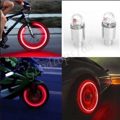 2pcs LED Tire Valve Stem Caps Neon Light Auto Accessories Bike Bicycle Car Auto