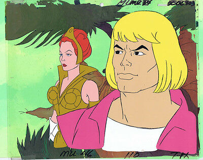 He-Man MOTU Original Production Animation Cel & Hand Painted Background A1624