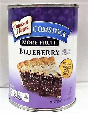 Duncan Hines Comstock More Fruit Blueberry Pie Filling or Topping 21 oz