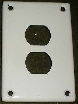 Electrical Duplex Receptacle Cover Plate Cast Steel White Oversized Industrial