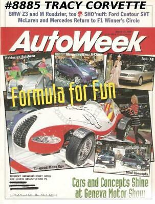 March 17, 1997 Autoweek BMW Z3 M Roadster Ford Contour SVT McLaren Mercedes F1