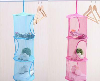 New Foldable Hanging Clothes Laundry Basket Dryer Net Mesh Toys Drying Rack W