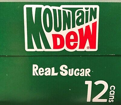 Mountain Dew Throwback Soda 12 pack Mtn Dew