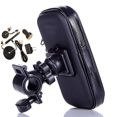 Bike Handlebar Mount, USB Kit fits ZTE Grand X Max even with a cover on