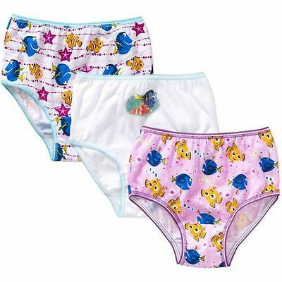 Finding Dory Toddler Girls 3 Pack Assorted Color Panties Size 2T/3T 4T