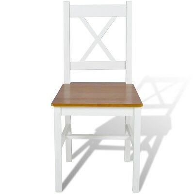 New 2/4/6 pcs Wood Dinning Chair Set Home Seating Wooden Furniture White/Natural