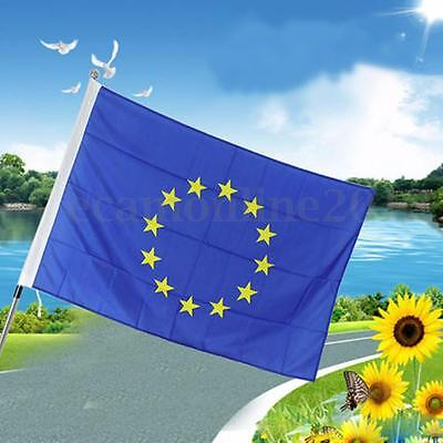 45cmx30cm Polyester EU European Union Sleeved Flag For Boats & Hand Waving Flags