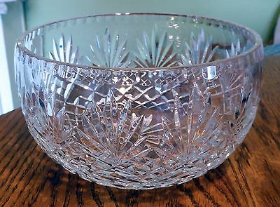 "Vintage Brilliant Cut Glass Crystal Bowl 8"" Dia; Excellent Condition; Beautiful!"
