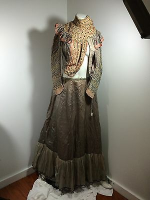 Victorian Blouse Top With Lace And Skirt Dress