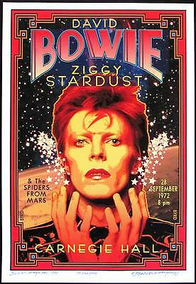 Honoring David Bowie at Carnegie Hall 1972 New Poster S/N 100 Signed David Byrd