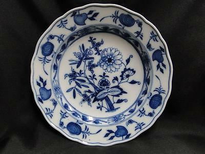 "Meissen Blue Onion, ""X"" Backstamp: Dinner or Soup Plate (s) 9 5/8"", 1 1/2"" tall"