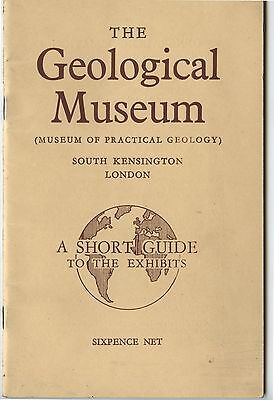 Old 1947 Booklet Geological Museum South Kensington London