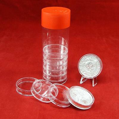 10-2 oz Elemental Ultra High Relief Coin Holder Capsules w/ H Model Storage Tube
