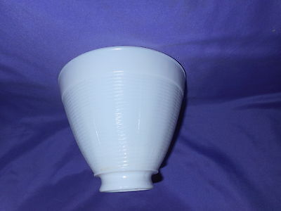 "Vintage 6"" White Milk Glass Basket Weave Light Shade Globe Torchiere 2 1/8"" Fitt"