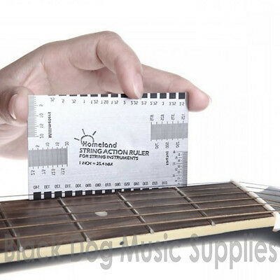 Guitar Fretboard Fingerboard  string action Gauge