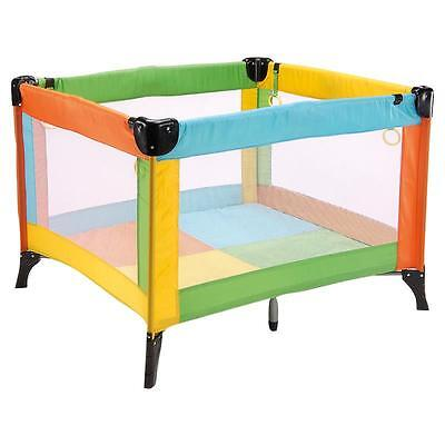 BABY-PLUS Travel bed Lucca Square multicolour