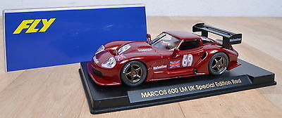 Fly E21 Slotcar Marcos 600 LM UK Special Edition Red / 1:32 / unbespielt / OVP