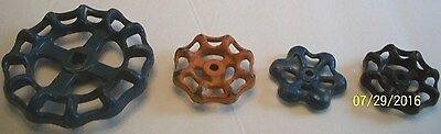 Lot Of 4  Nice Old Water Valve Knobs-Handles, Steampunk