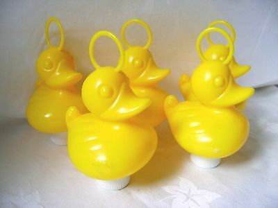 NEW 5 YELLOW DUCKS WITH HOOK AND WEIGHT - PERFECT FOR HOOK-A-DUCK GAMES! 8cm HB