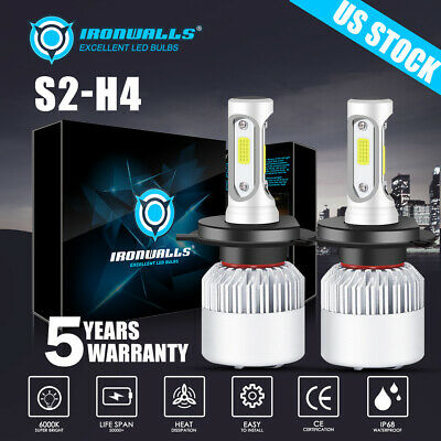 CREE COB H4 9003 HB2 LED Headlight Kit  Hi-Lo 900W 135000LM Car White Light Bulb