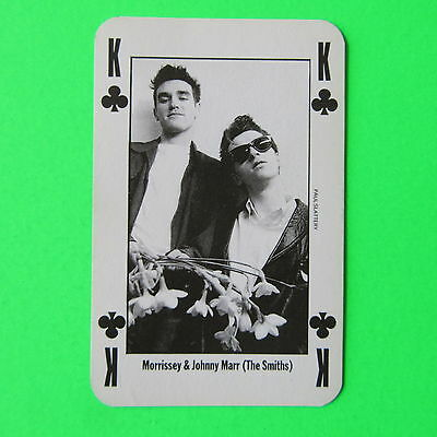 Rare Nme Playing Card - Morrissey & Johnny Marr (The Smiths)