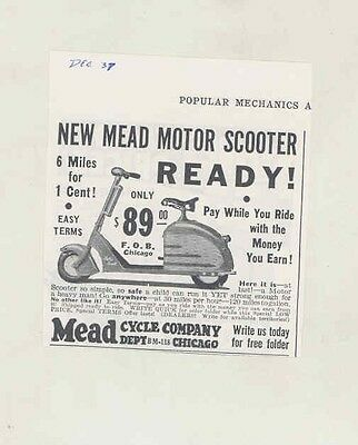 1937 Mead Motor Scooter Small Ad ww1260