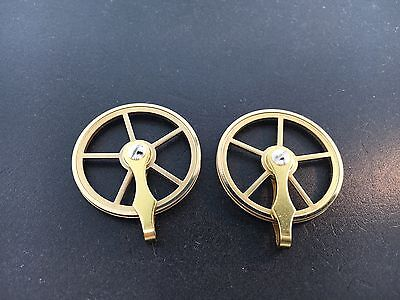 "Vienna Regulator Clock Brass Pulley Set of 2 for weight driven 1 3/8"" diameter"
