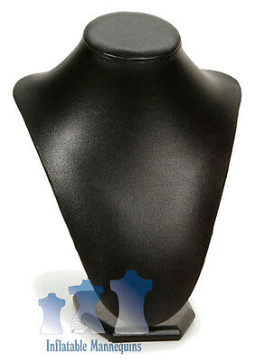 Female Necklace Display, Black Leatherette