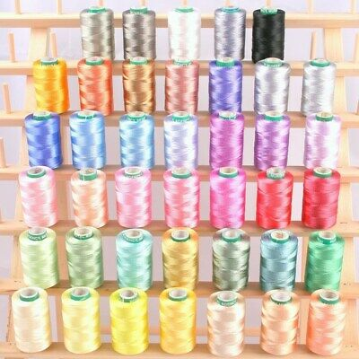 NEW 40 FROSTY COLOR RAYON MACHINE EMBROIDERY THREAD 4 BROTHER Babylock machines