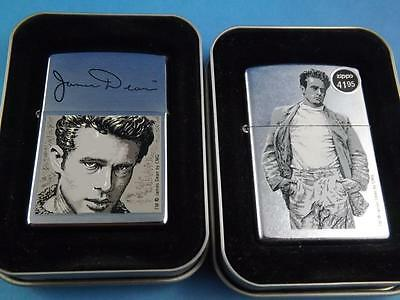Zippo Lighters James Dean 2002 Hollywood Collector Lot Walking Autograph Sealed