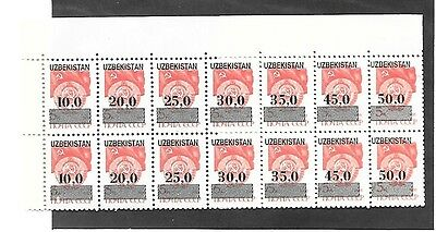 UZBEKISTAN Sc UNLISTED NH ISSUE of 1988 - Overprint