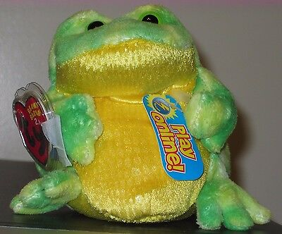 Ty 2.0 Beanie Baby ~ JUMPS the Bull Frog -MINT with MINT TAGS Stuffed Animal Toy