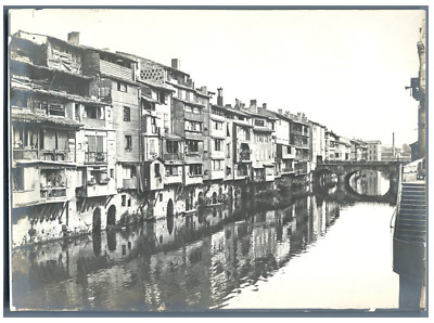 France, Castres, Panorama  Vintage silver print.  Tirage argentique  13x18