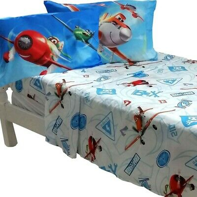 Disney Planes Bed Sheet Set Dusty Crophopper On Your Mark Bedding Accessories