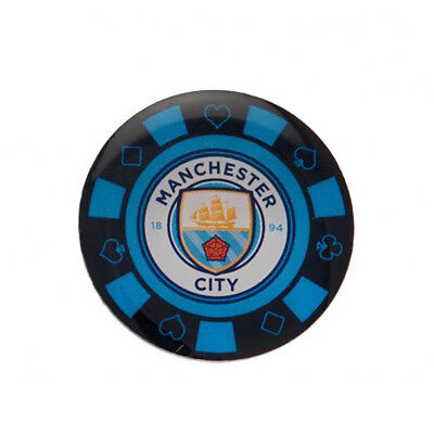 Manchester City F.C - Metal Poker Chip Badge - GIFT