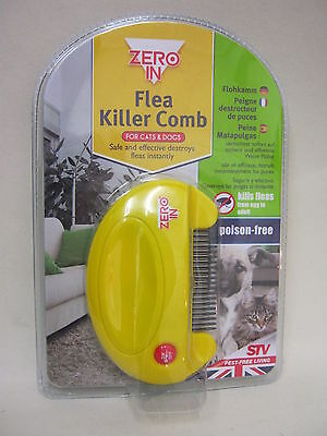 New Zero In STV Flea Killer Comb Cats And Dogs Poison Free ZER023