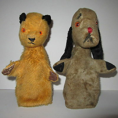SOOTY & SWEEP - VINTAGE (60's) CHAD VALLEY GLOVE/HAND PUPPETS WITH LABELS