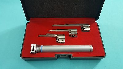 Set Of 3 Laryngoscope Miller Intubation Blades 00, 0,1 + Small Handle Anesthesia