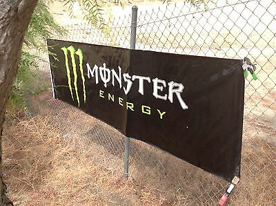 Authentic Monster Energy Drink Vinyl Banner These Banners Are Slightly Used
