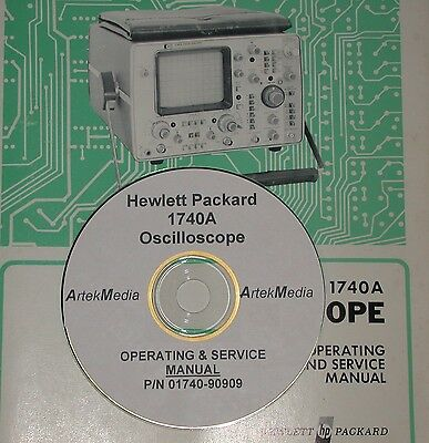 HP 1740A  Osciloscope OPERATING AND SERVICE  MANUAL