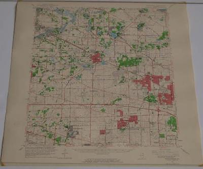 Barrington Illinois Geological Survey Topographic Map 1964