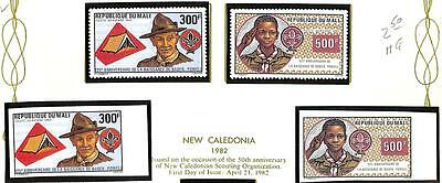 Boy Scouts Mali Scott C462-63 Perf & Imperf Set Of 2 Stamps Mnh Vf 1982