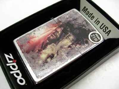 Zippo Full Size Street Chrome Native American Classic Windproof Lighter 28868