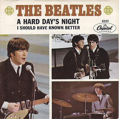 The Beatles 45 A Hard Day's Night / I Should Have (Rock) 1964 Capitol 5222 EX