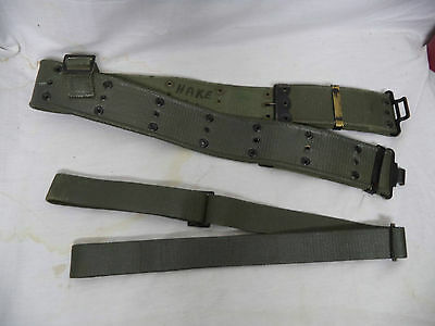 The Black Watch Canadian Military Web Belt Web Strap Named Post WW2 Stamped 1962