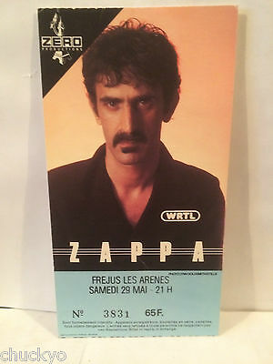 Frank Zappa Concert Ticket Stub 5-29-1976 France - Rare Picture Ticket