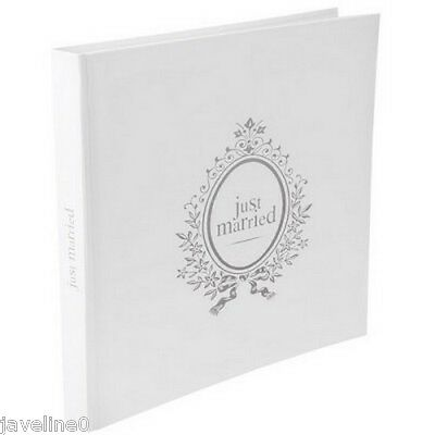 Livre d'or Mariage Just Married Blanc