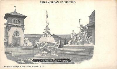 Pan-American Exposition Fountain Of Nature Buffalo New York Postcard 1901