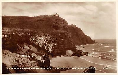 Rppc Cape Point Cape Of Good Hope Lighthouses South Africa Real Photo Postcard