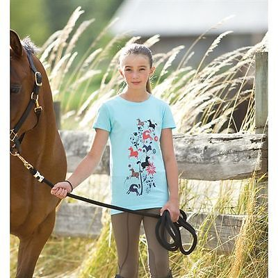 CLOSEOUT Kerrits Kid's Leaping Horse Tee Crystal Large Regular $25